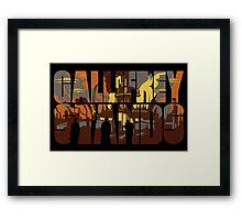 Gallifrey Stands Framed Print