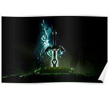 The legend of Zelda - Link sword Excalibur Poster