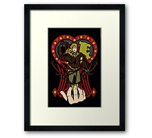 Lion and the maiden fair Framed Print