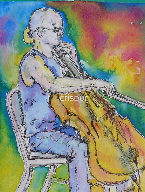 cello busker by christine purtle