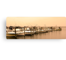 Calm Morning Mooring Canvas Print