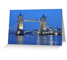 Tower Bridge Blues Greeting Card