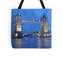 Tower Bridge Blues Tote Bag