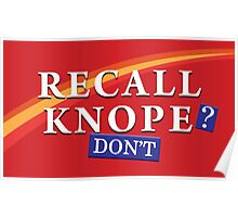 Parks and Rec - Recall Knope Poster