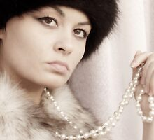 Girl with pearls by Adela Hriscu