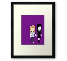 Worst. Crush. Ever. - Laura & Carmilla Stylized Print Framed Print