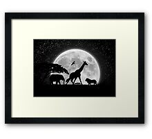 Late Night African Meeting Framed Print