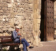 Old French Man by Michelle Mc Goff