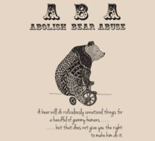 ABA - Circus Bear - Light Background by Sparrow Rose Jones