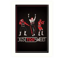 """Just Too Sweet"" Wrestling Design Art Print"