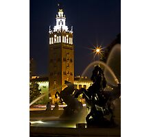 Kansas City Plaza Fountain Photographic Print