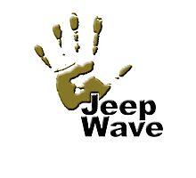 Jeep WAVE muddy hand Photographic Print