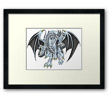 Azure-Eyes Silver Dragon Framed Print
