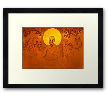 Artwork of Buddha with halo art photo print Framed Print