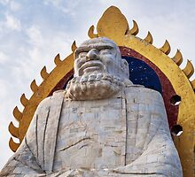 Bodhidharma statue on mount Song in DengFeng China art photo print by ArtNudePhotos