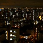 night view towards Jurong Island - Singapore by Leone