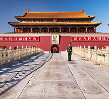 Military guard in front of Tiananmen in Beijing China art photo print by ArtNudePhotos