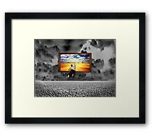 Escape Infinite Future Chaos Framed Print