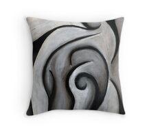 Charcoal Reaching Throw Pillow