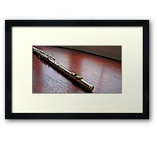 Silver and Gold - Flute Headjoint  Framed Print