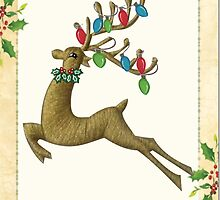 Christmas Deer by Ann12art