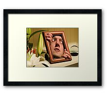 Shelf Portrait Framed Print