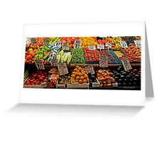 Vegetable Stand Greeting Card