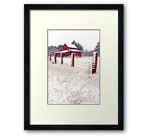 southern snow Framed Print