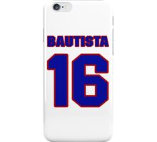 National baseball player Denny Bautista jersey 16 iPhone Case/Skin