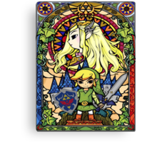 Stained Glass Legend Canvas Print
