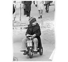 Collector, On the Way to M.Cartier Bresson Paris 1975 17 (b&n)(h) by Olao-Olavia par Okaio Création Poster