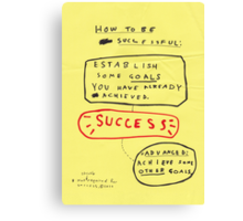 HOW TO BE SUCCESSFUL Canvas Print