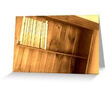 Bookshelf 2 Greeting Card