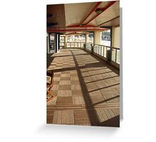 Shopping arcade Greeting Card