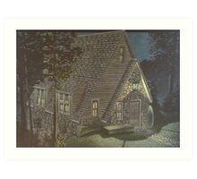 Aarons Cottage Art Print