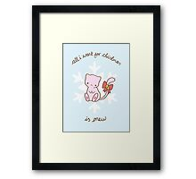 Mew Christmas Framed Print