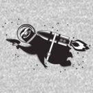 Outer space sloth rocket ray gun by BigMRanch