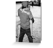 The Kiss - Romance in Black and White, New York City Greeting Card