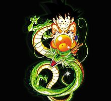 Guko and Dragon Ball  by bradixart