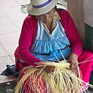 Gualaceo Straw Weaver by Al Bourassa