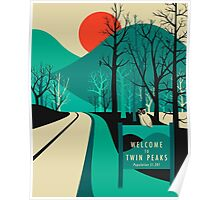 Twin Peaks Travel Poster Poster