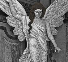 Angel Of Santo Domingo Church In Cuenca Sticker