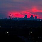 St Louis Gateway Arch at Sunset by WayneSheridan