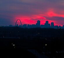 St Louis Gateway Arch at Sunset by WayneSheridan