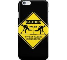Street racing in progress iPhone Case/Skin