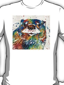 Otter Art - Ottertude - By Sharon Cummings T-Shirt