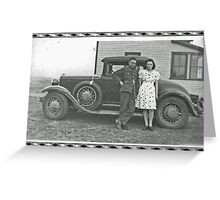 Back From WWII Greeting Card