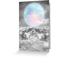 Places Neither Here Nor There (Guardian Moon) Greeting Card