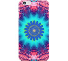 Flower and Petals in sapphire blue and pink iPhone Case/Skin
