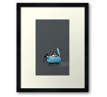 Boogie Warrior Pixels Framed Print